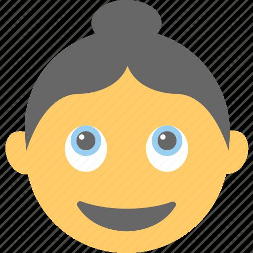 emoticon, happy, smiley, surprised, woman emoji icon