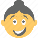 emoticon, joyful, laughing, smiling, woman emoji icon