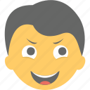 boy emoji, boy laughing, emoticon, joyful, smiling icon
