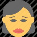 adorable, cute, makeup, pretty woman, woman emoji icon