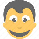 avatar, boy emoji, emoticon, joyful, smiling icon