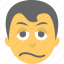 baffled face, boy emoji, confounded face, face, smiley icon