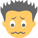 boy emoji, confounded face, confused, smiley, trembling icon