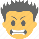 emoticon, boy, grimacing face, emoji, irritated icon