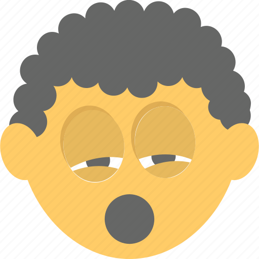 emoji, emoticon, exhausted, tired emoji, yawn icon