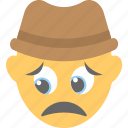 depressed, emoji, emoticon, smiley, worried icon