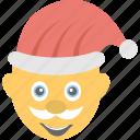 emoji, father nicholas, santa claus, santa smiling, sinterklaas icon
