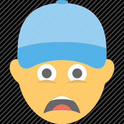 depressed, emoji, sad, smiley, tired icon