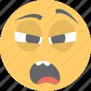 boy emoji, emoticon, exhausted, tired emoji, tired face icon