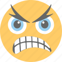 aggressive, angry, emoji, frowning face, unamused face icon