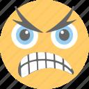 aggressive, angry, emoji, frowning face, unamused face