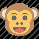baboon, chimps, happy, monkey emoji, smiley icon
