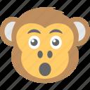 baboon, chimps, monkey emoji, smiley, surprised icon
