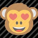 adorable, baboon, chimps, monkey emoji, smiley icon