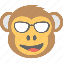 baboon, chimps, monkey emoji, naughty, smiley icon