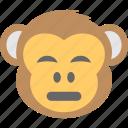 baboon, chimps, monkey emoji, sad, smiley icon