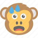 baboon, chimps, crying, monkey emoji, smiley icon