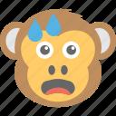 baboon, chimps, crying, monkey emoji, smiley icon