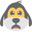 dog emoji, dog face, emoji, floppy dog, smiley icon
