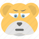 animal, bear emoji, bear face, emoji, emoticon icon
