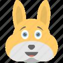 bunny emoji, bunny face, emoji, emoticon, smirking