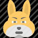 bunny emoji, bunny face, emoji, emoticon, happy icon
