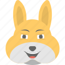 bunny emoji, bunny face, emoji, emoticon, happy icon
