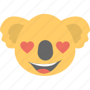 animal, emoticon, koala emoji, koala face, smiley icon