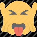 emoji, emoticon, ghost emoji, ghoul, naughty icon