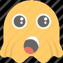emoji, emoticon, ghost emoji, ghoul, surprised icon
