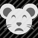 emoji, emoticon, hamster emoji, hamster face, smiley