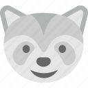 emoji, emoticon, fox emoji, fox face, wolf face icon