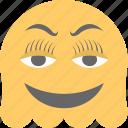 emoji, emoticon, ghost emoji, ghoul, laughing