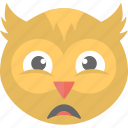 emoji, emoticon, owl emoji, owl face, smiley icon