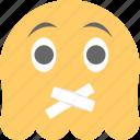 emoji, emoticon, ghost emoji, ghoul, lips sealed icon