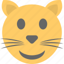 cat emoji, cat face, emoticon, kitten, smiley icon