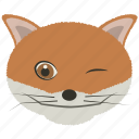 chat, fox, mad, smiley, wink icon