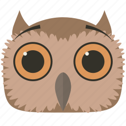 chat, owl, smiley, surprised icon