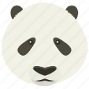 chat, panda, sad, smiley icon