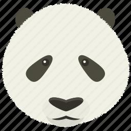 chat, panda, sad, smiley icon