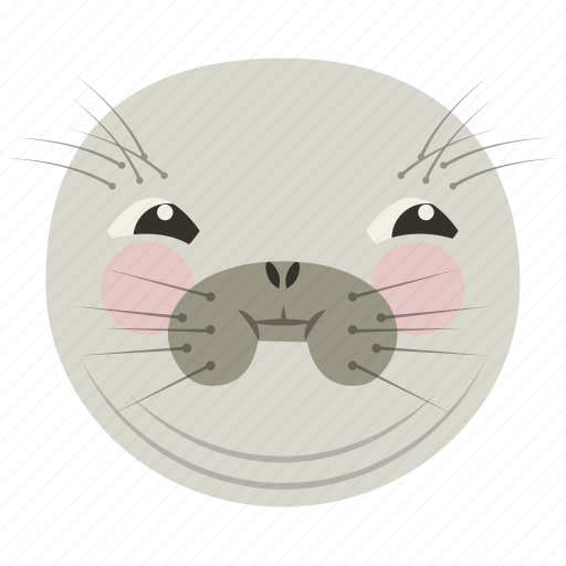 ashamed, chat, confused, seal, smiley icon