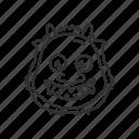 japanese, japanese ogre, japanese oni, mask, ogre, oni, oni mask icon