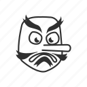 angry mask, emoji, goblin, japanese, japanese goblin, mask, tengu icon