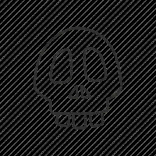 bone, danger, death, emoji, halloween, poison, skull icon