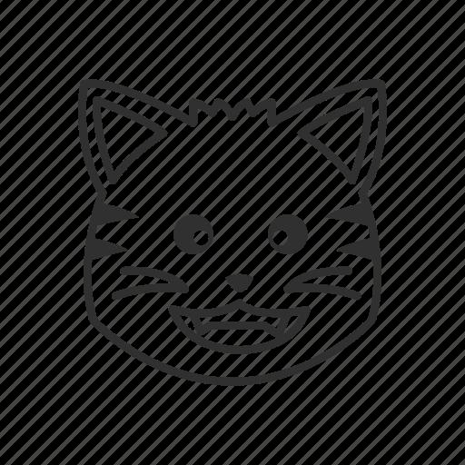 animal, cat, cat face, emoji, happy cat, pet, smiling cat icon