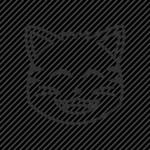 cat, cat face, emoji, happy, happy cat, smiling cat icon