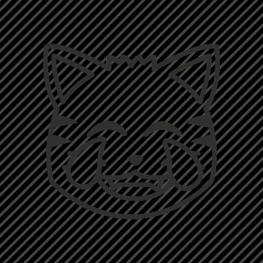 cat face, cat with tears of joy, emoji, happy cat, joy, tears, tears of joy icon