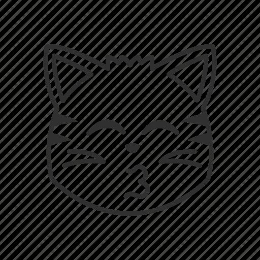 cat, cat face, emoji, happy, happy cat, kiss, kissing cat icon