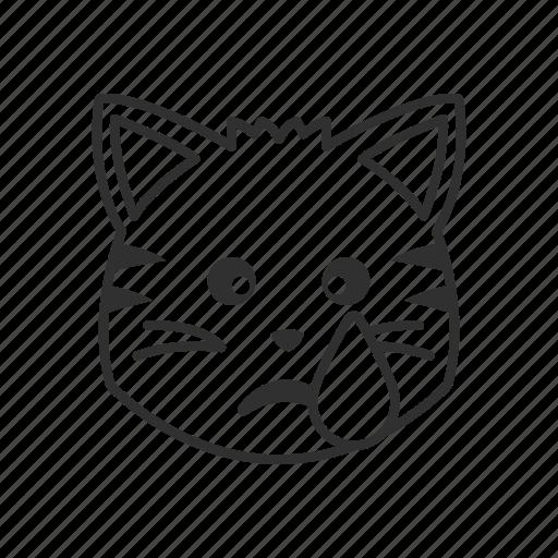 cat, cat face, crying, crying cat, emoji, emoticon, sad icon