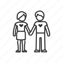 couple, couple holding hands, happy couple, holding hands, love, man and woman, relationship icon